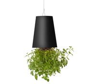 Boskke Sky Planter Recycled Flower Pot Black Large