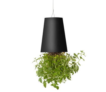 Boskke Sky Planter Recycled Flower Pot Black Large