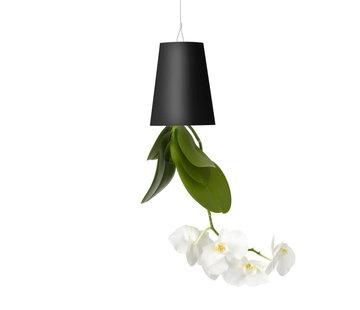Boskke Sky Planter Recycled Flower Pot Black Small