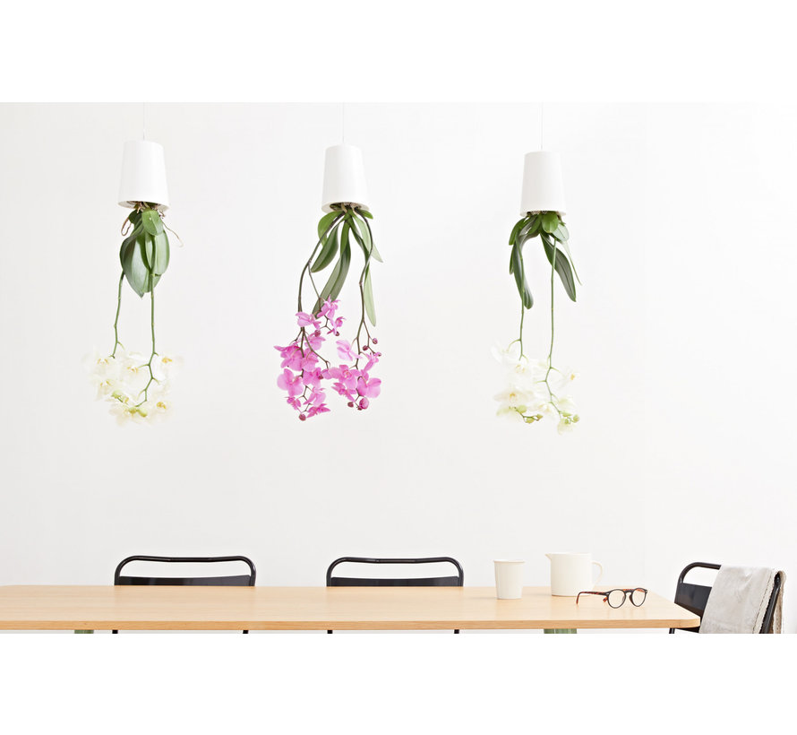 Boskke Sky Planter Recycled Flower Pot White Large