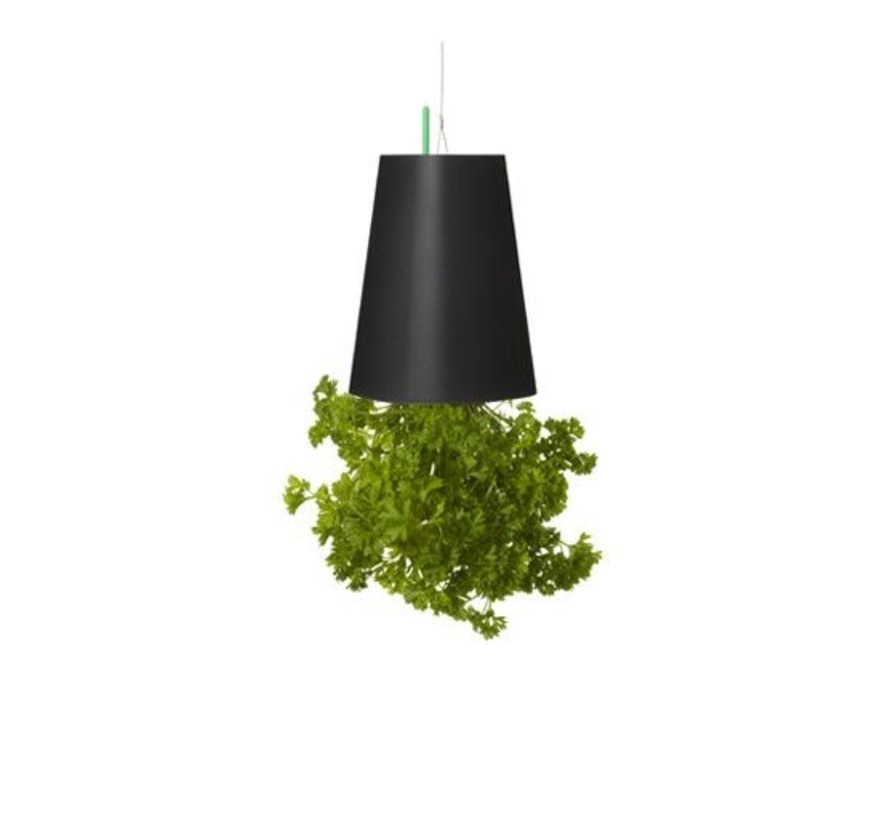 Sky Planter Recycled Flower Pot Black Small