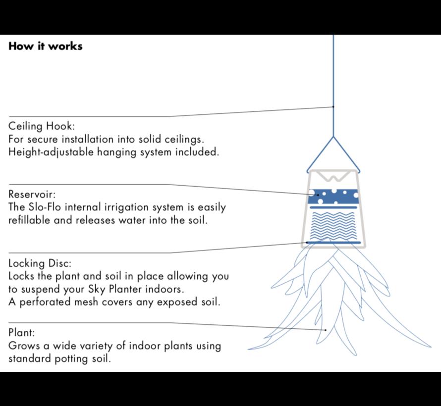 Boskke Sky Planter Recycled Bloempot Zwart Klein