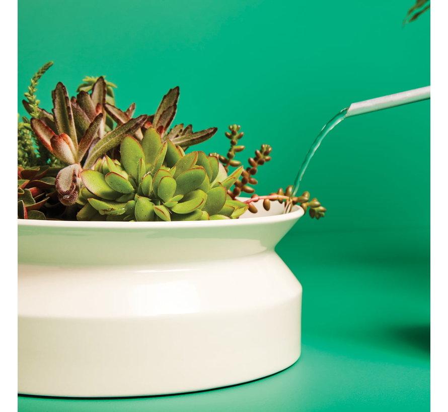 Spool Planter Ceramic Flower Pot White Large