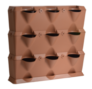 Minigarden Vertical Terracotta 3 Module Starter Kit