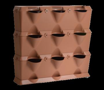 Minigarden Vertical Terracotta 3 Module Starter Kit