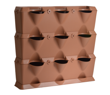 Minigarden Vertical Terrakotta 3 Modul Starter-kit