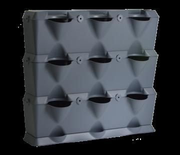 Minigarden Vertical Grijs 3 Module Starterset