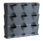 Vertical Grau 3 Modul Starter-kit
