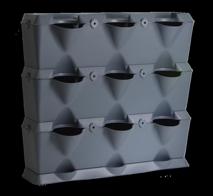 Minigarden Vertical Grau 3 Modul Starter-kit