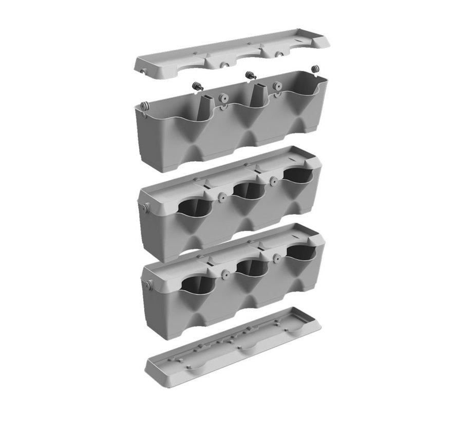 Minigarden Vertical Terracotta 3 Module Starterset
