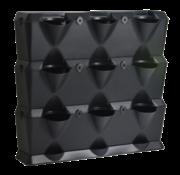 Minigarden Vertical Schwarz 3 Modul Starter-kit