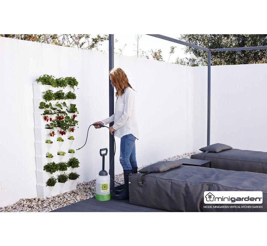 Minigarden Vertical Kitchen Garden Wit 8 Module Starterset