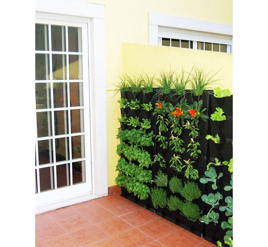Minigarden Vertical Kitchen Garden Zwart 8 Module Starterset