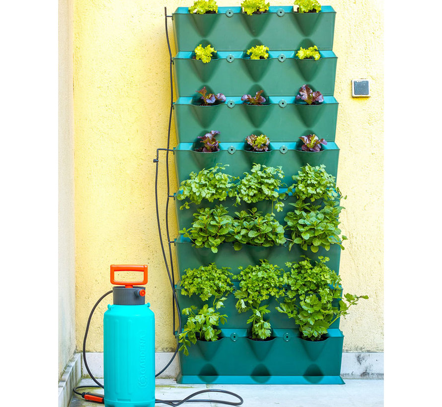 Minigarden Vertical Kitchen Garden Groen 8 Module Starterset