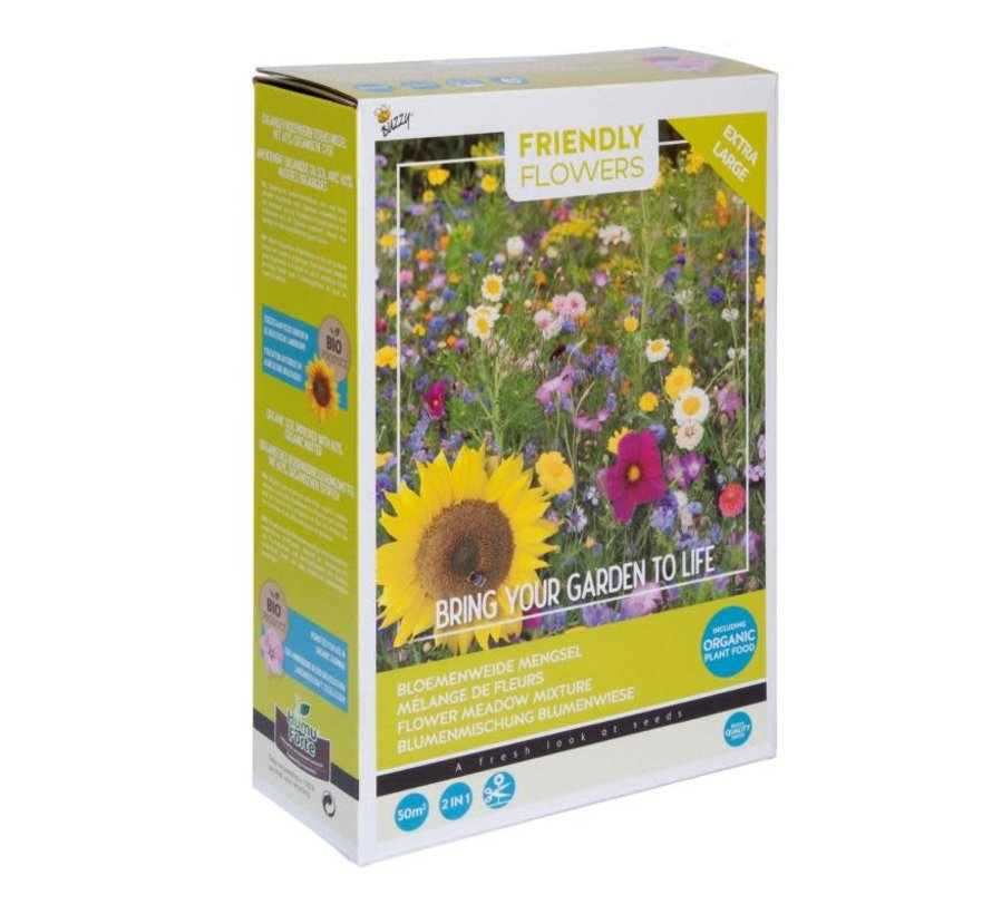Friendly Flowers XL Flower Mix Meadow 50m²