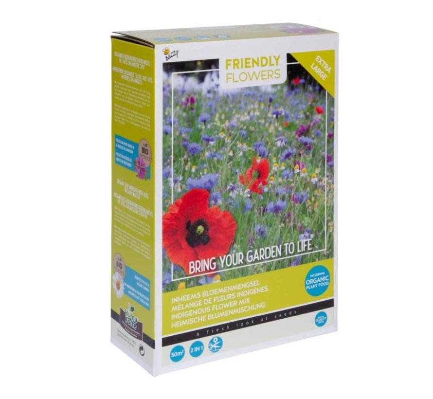 Friendly Flowers XL Bloemenmix Nederlands 50m²