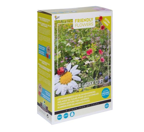 Buzzy Grow Gifts Friendly Flowers XL Flower Mix for Ladybugs 50m²