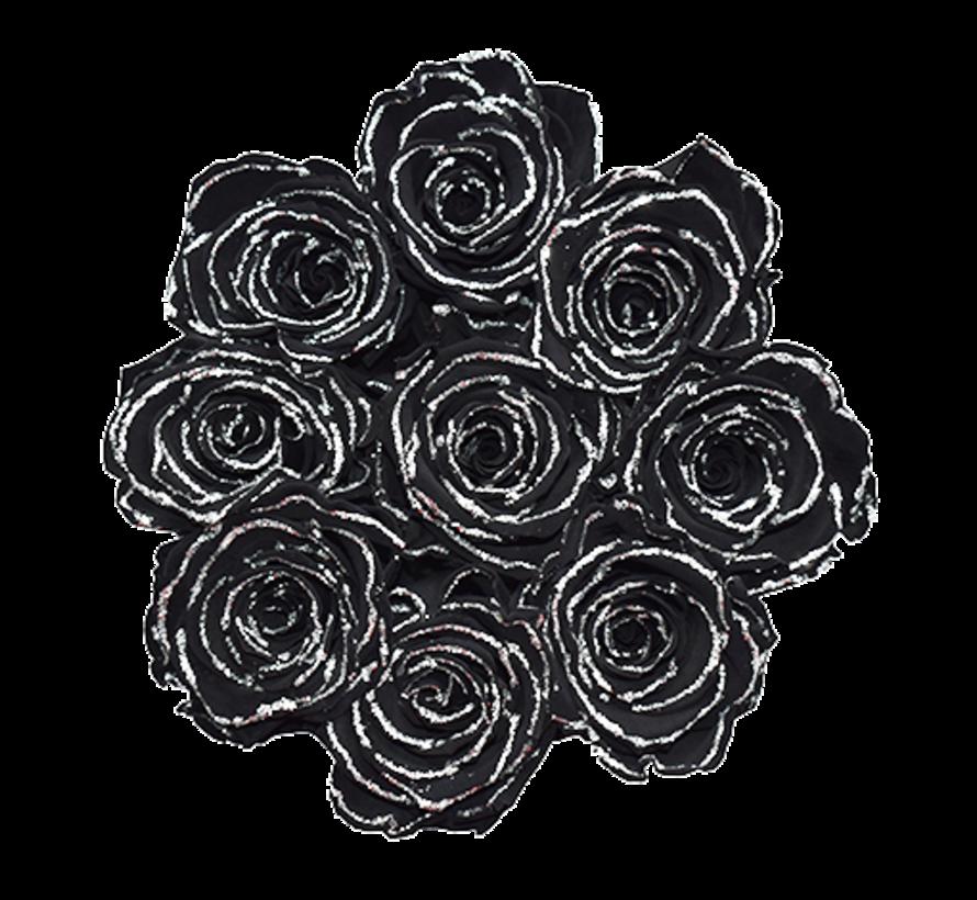 Rosuz Flowerbox Longlife Gigi Zwart Glitter