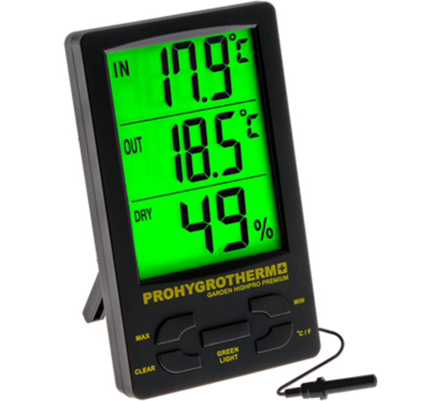 Garden Highpro Prohygro Hygrothermo Meter Pro