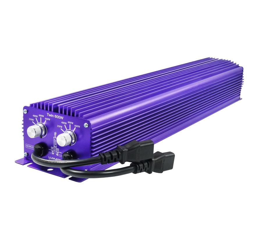 Lumatek EVSG Twin 600 Watt 240 Volt Dimmbar