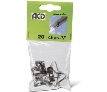 ACD V-Clips Federstahl 20 Stück