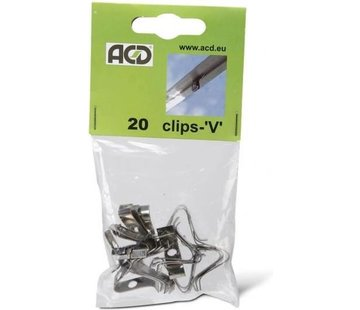 ACD V-Clips Spring Steel 20 Pieces