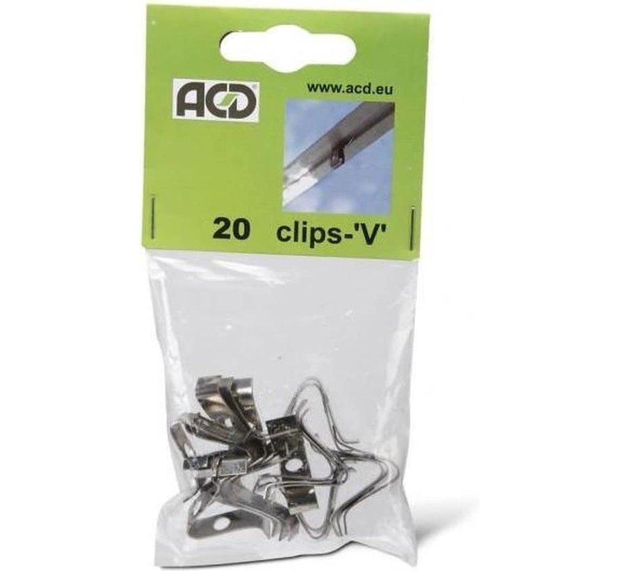 ACD V-Clips Veerstaal 20 Stuks