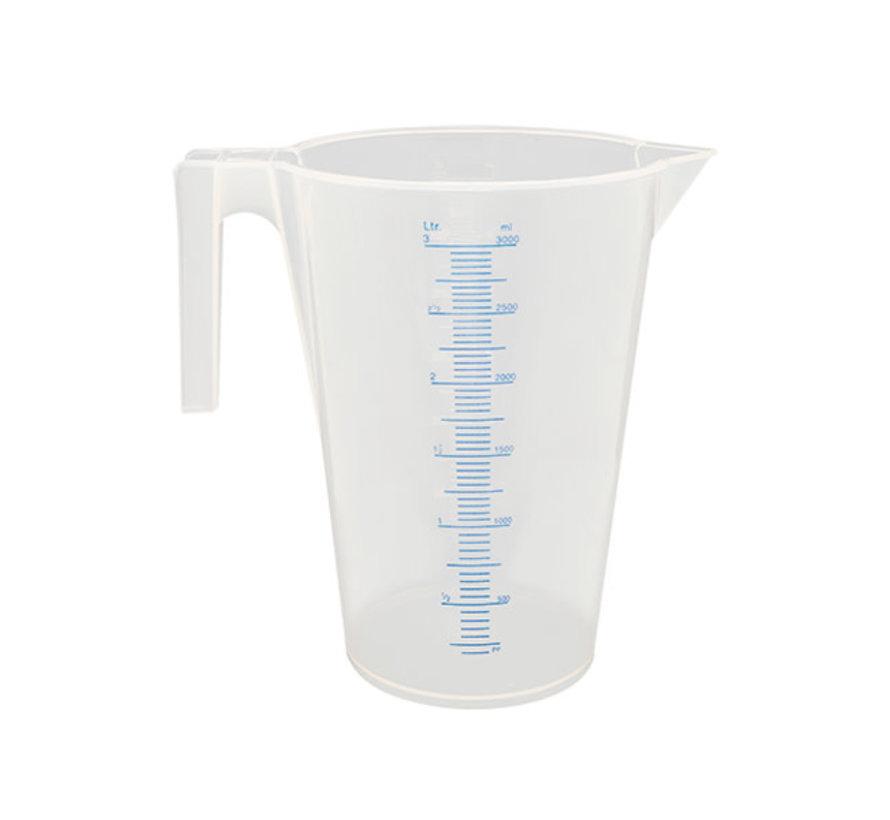 Maatbeker 3 liter Kunststof