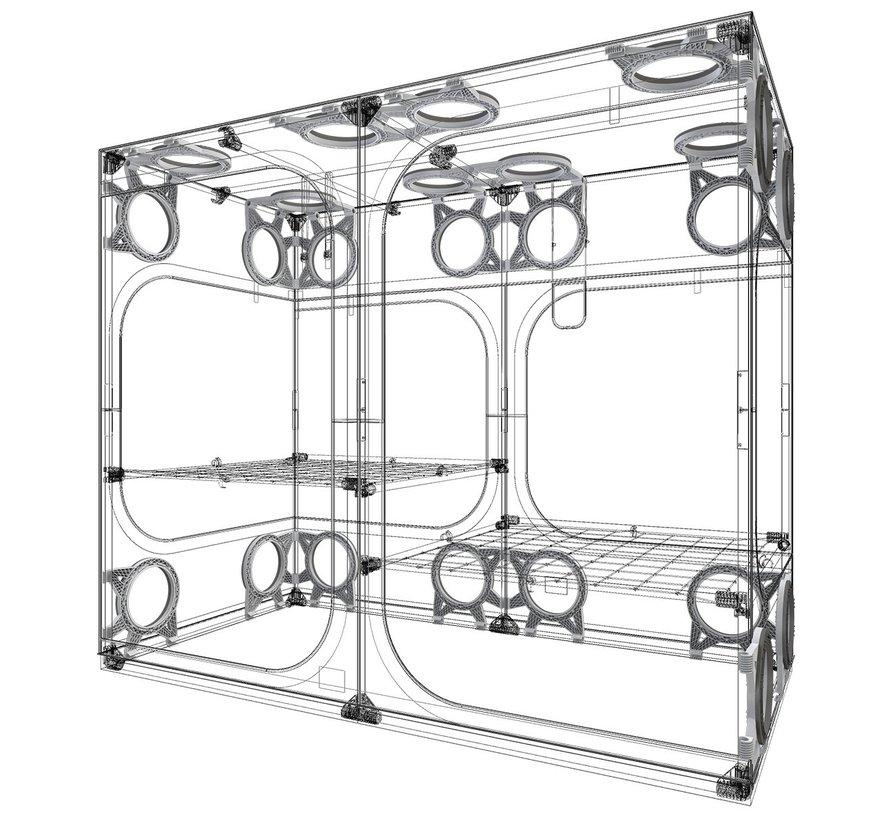 Secret Jardin DF25 Flanschhalterung für 25-mm-Zeltstangen