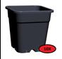 10x Grow Pot Square 11 Liter 24x24 cm Black