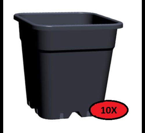 Fertraso 10x Grow Pot Square 18 Liter 31x31 cm Black