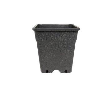 Fertraso Anzuchttopf Viereckig 5 Liter 17x17 cm Schwarz