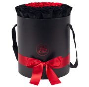 Rosuz Flowerbox Longlife Aisha Black & Red