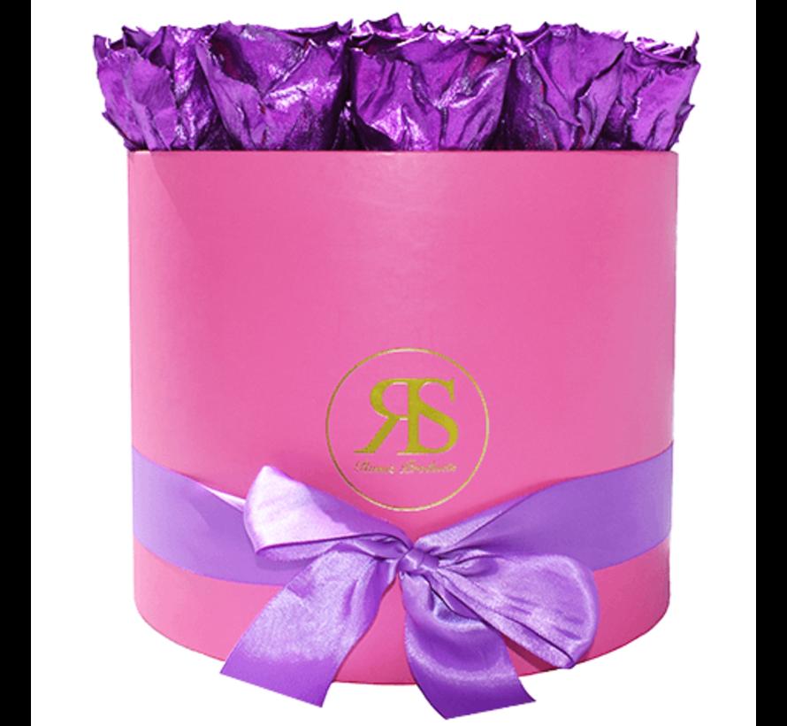Rosuz Flowerbox Longlife Ciara Metallisches Lila