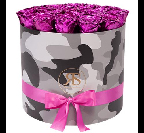 Rosuz Flowerbox Longlife Coco Metallic Roze