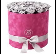 Rosuz Flowerbox Longlife Suzy Metallic Zilver