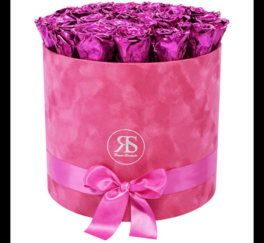 Rosuz Flowerbox Longlife Suzy Metallic Roze