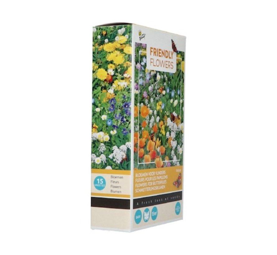 Buzzy Friendly Flowers Bloemenmix voor Vlinders 15m²