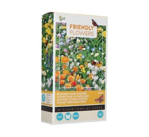 Buzzy Friendly Flowers Blumenmischung für Schmetterlinge 15m²