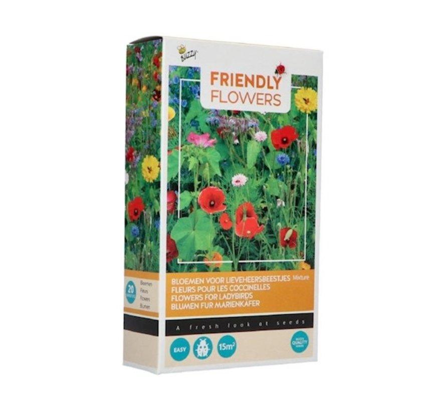 Buzzy Friendly Flowers Bloemenmix voor Lieveheersbeestjes 15m²