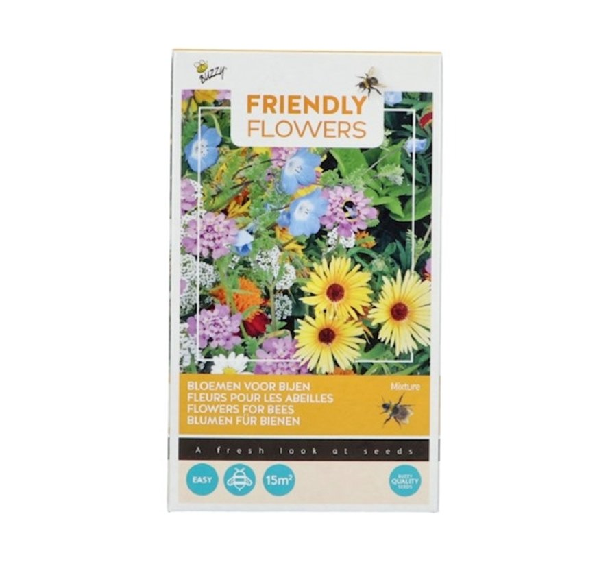 Buzzy Friendly Flowers Blumenmischung für Bienen 15m²