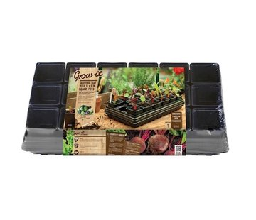 Growing Tray with Watering Mat 18 Compartments 57x31 cm