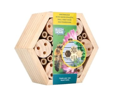 Buzzy Insectenhuis Zeshoekig voor Bijen