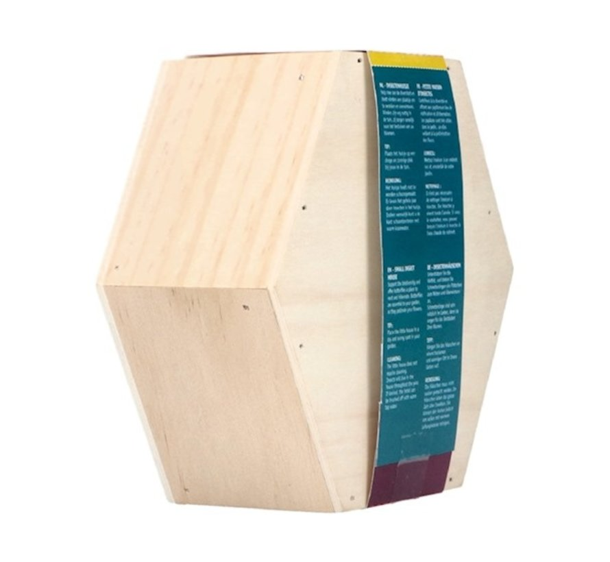 Buzzy Insect House Hexagonal for Butterflies