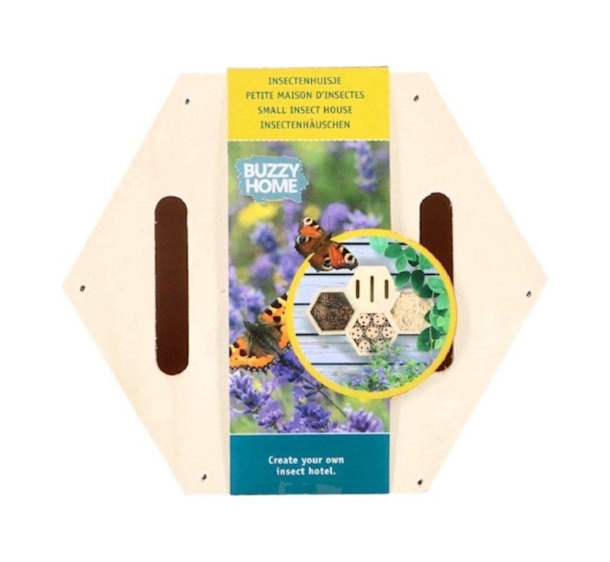 Buzzy Insectenhuis Zeshoekig voor Vlinders