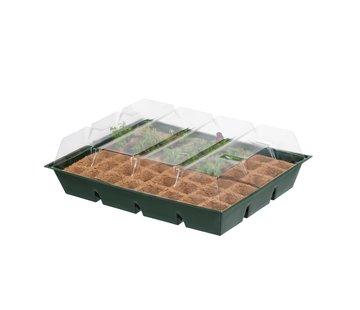 Nature Mini Kweekkas met Turfpotjes Groen 13x43x33 cm