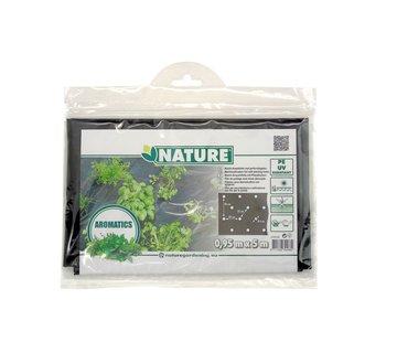 Nature Black Cultivation Foil with 100x Ø6cm Planting Holes 0.95mx5m