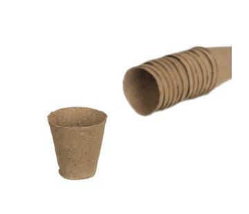 Nature Biodegradable Peat Pots Round 18 pieces