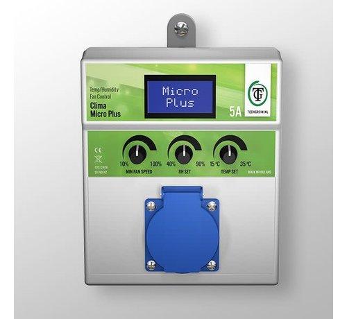 Techgrow Clima Control - Micro Plus 5A Temp/Luchtvochtigheid Fan Control