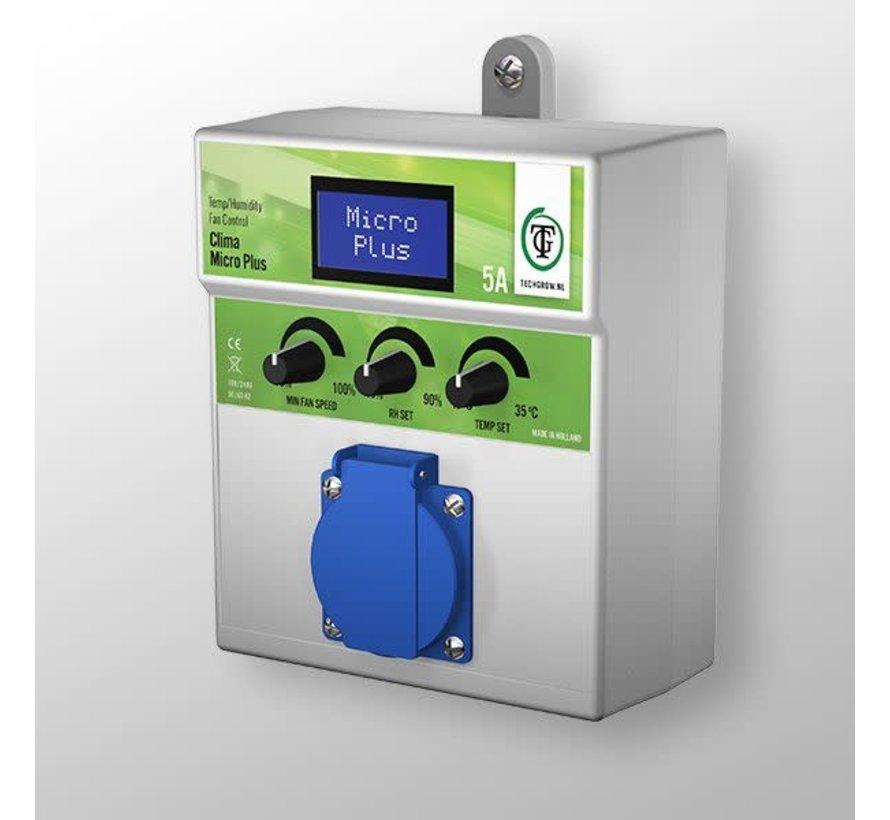 Techgrow Clima Control - Micro Plus 5A Temp/Luftfeuchtigkeit Lüftersteuerung